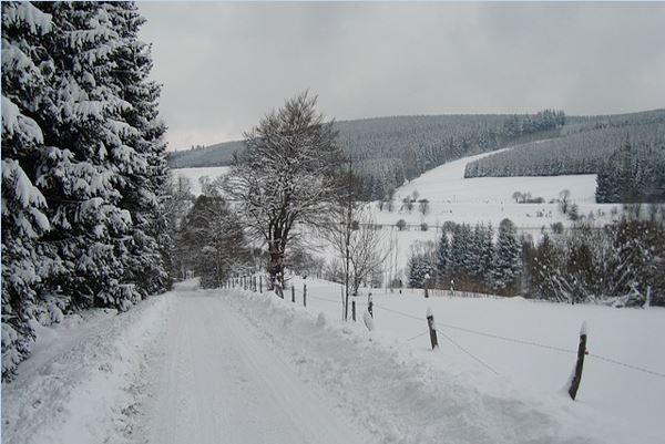 sneeuwlandschap omgeving