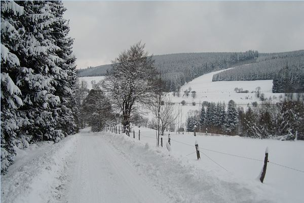 Schneelandschaft in der Umgebung